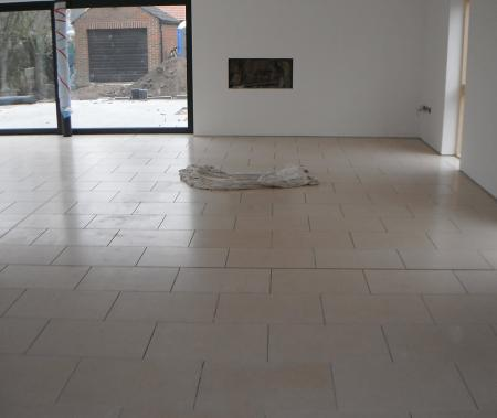 underfloor heating is installed to ground floor living space before tiling