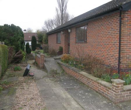 side elevation of original bungalow